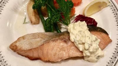 生鮭のバター焼き