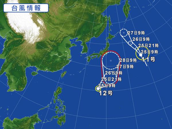 台風12号2018