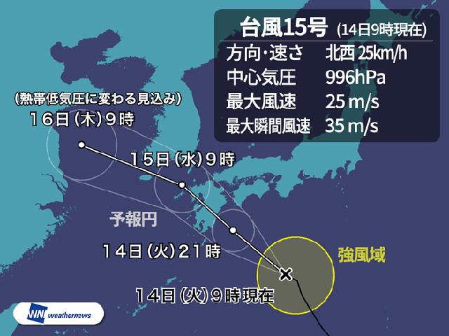 台風15号2018