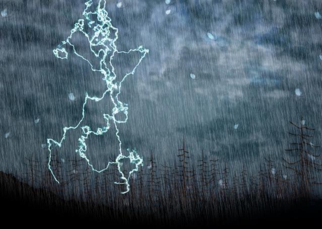 雨風が強い