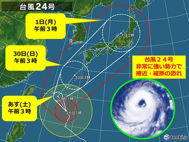 台風24号の現在